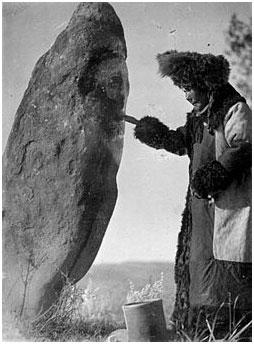 камень хакаской бабушки