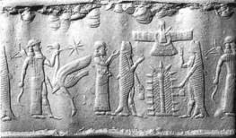 Изображение Дагона на ассирийской печати