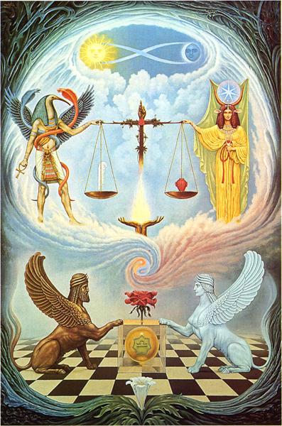 магия 11 Aркан - закон - хаос и порядок