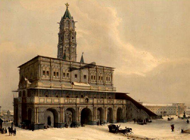 Сухарева Башня в XVIII веке