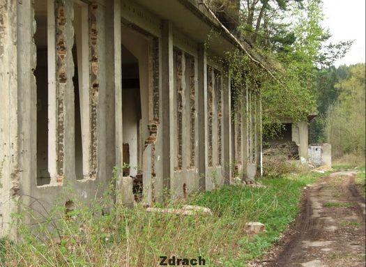 Часть здания в районе шахты «Венцеслаш» Польша